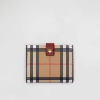 Burberry Vintage Check and Leather Folding Wallet