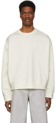 Jil Sander Off-White Crewneck Sweater
