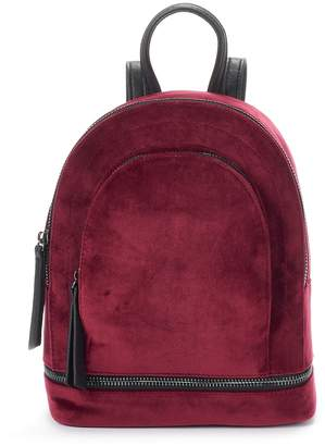 Mudd Crushed Velvet Mini Dome Backpack