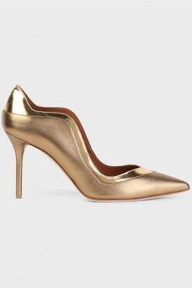 Malone Souliers By Roy Luwolt Bronze and Gold Penelope Leather Pumps