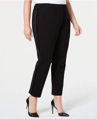 Calvin Klein Plus Size Side-Stripe Skinny Pants