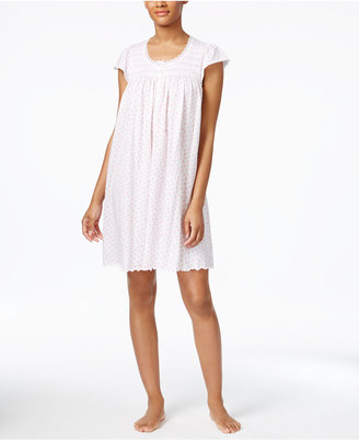 Miss Elaine Smocked Floral-Print Knit Nightgown $54 thestylecure.com