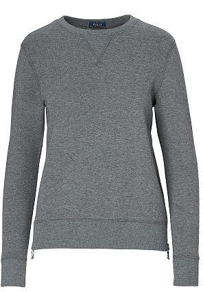 Polo Ralph Lauren Side-Zip Fleece Sweatshirt