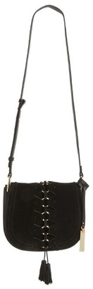 Vince Camuto Ancel Suede Crossbody Bag - Black $248 thestylecure.com