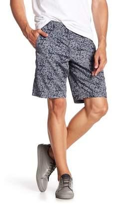 John Varvatos Collection Flat Iron Print Casual Shorts