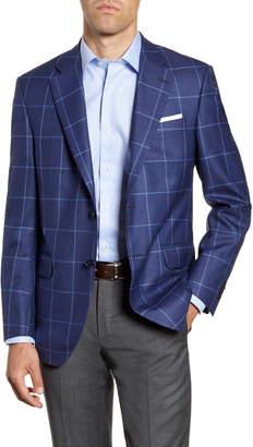 Peter Millar Hyperlight Classic Fit Windowpane Wool Blend Sport Coat