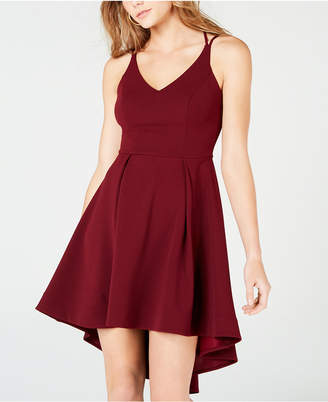 B. Darlin Juniors' High-Low Fit & Flare Dress