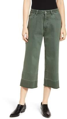 DL1961 Hepburn High Waist Crop Wide Leg Jeans