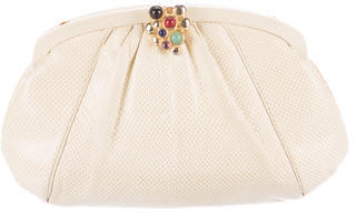 Judith Leiber Pleated Karung Clutch $195 thestylecure.com