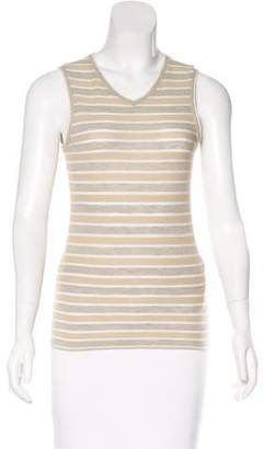 L'Agence Striped Sleeveless Top