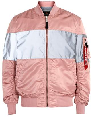 Alpha Industries MA1-VF Pink Reflective Shell Bomber Jacket