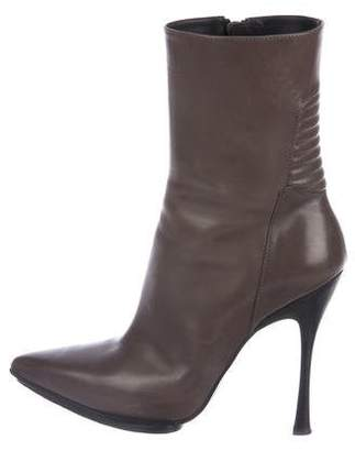 Ann Demeulemeester Pointed-Toe Leather Ankle Boots