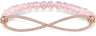 Thomas Sabo Love bridge rose gold, zirconia and quartz infinity bracelet