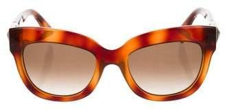 Valentino Tortoiseshell Retro Sunglasses