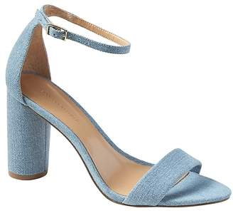Banana Republic Bare High Block-Heel Denim Sandal