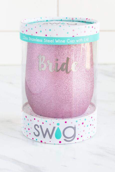 Occasionally Made Bride Glitter Stemless