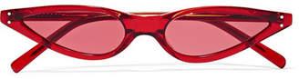Cat Eye George Keburia - Cat-eye Acetate Sunglasses - Red