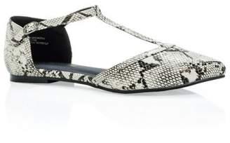 City Chic Citychic Trixie Textured Flat - black