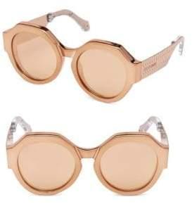 Roberto Cavalli Bronze Round Sunglasses/56MM