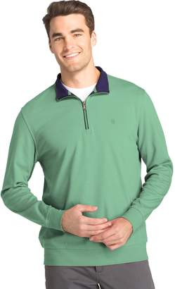 Izod Men's Saltwater Classic-Fit Fleece Quarter-Zip Pullover
