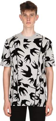 McQ Swallows Patchwork Jersey T-Shirt
