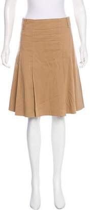 Burberry Knee-Length Pleated Skirt