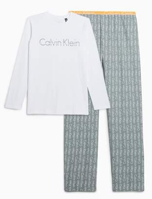 Calvin Klein boys modern cotton woven pajama set