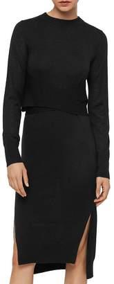 AllSaints Flora Merino Wool Sweater Dress