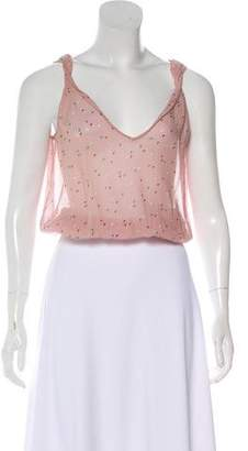 Marc Jacobs Sleeveless Silk Top
