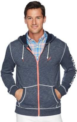 Nautica Long Sleeve Washed Full Zip Hoodie Men's Sweatshirt