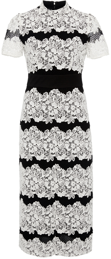 Burberry Burberry Two Toned Chantilly Lace Dress