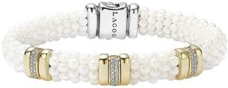Lagos 'White Caviar' Three Station Bracelet