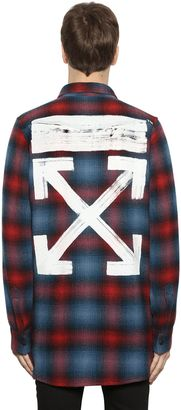 Brushed Arrows Plaid Flannel Shirt $527 thestylecure.com