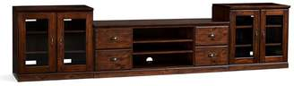 Pottery Barn Printer's Large TV Stand Suite with Glass Doors