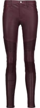 J Brand Tonya Moto-Style Leather Skinny Pants