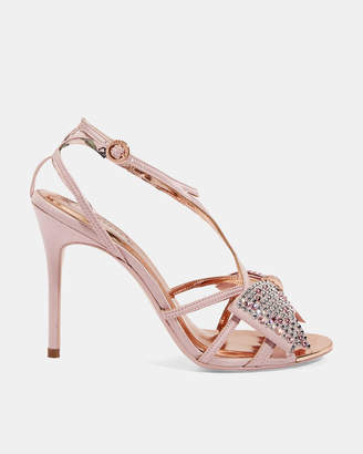 Ted Baker ARAYI Crystal bow strap sandals