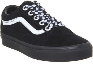 1f8698ae8e Vans Old Skool Trainers Black Check Lace