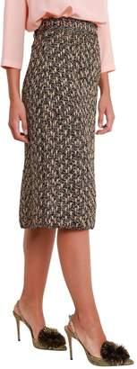 M Missoni Multicolr Metallised Knit Midi Skirt
