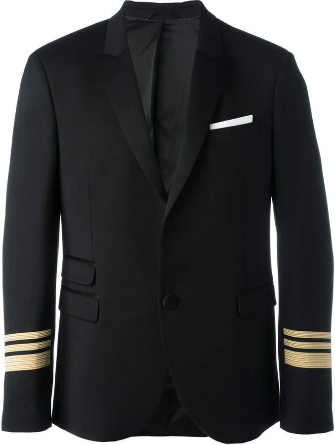 Neil Barrett striped cuff blazer