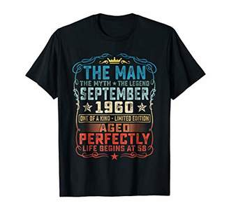 58th Birthday Gift The Man Myth Legend September 1960 TShirt