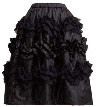 Comme des Garcons Ruffled Shell Skirt - Womens - Black