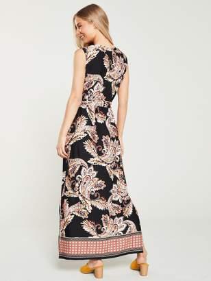 882dfdc022 Wallis Spiced Paisley Tassel Maxi Dress - Black