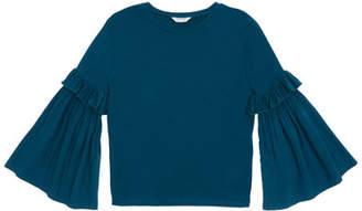 Habitual Taylor Ruffle-Sleeve Knit Top, Size 7-14