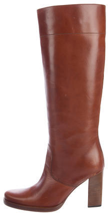 Miu Miu Miu Miu Round-Toe Knee-High Boots