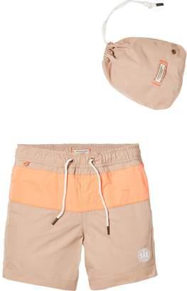 Scotch & Soda Colour Block Swim Shorts Medium length