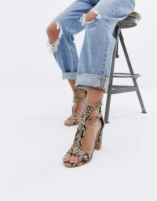 b754232a6d1 Beige Snake Print Sandals For Women - ShopStyle Australia