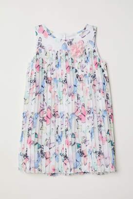 H&M Pleated Dress - White
