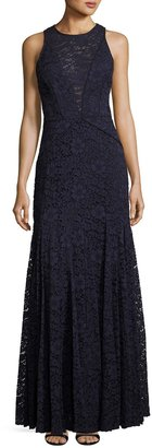 Vera Wang Lace Sleeveless Trumpet Gown, Navy $299 thestylecure.com