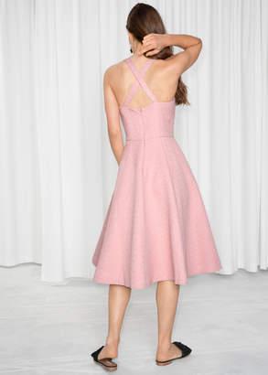 Cross Strap Tea Dress
