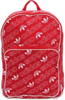 adidas Logo Printed Nylon Canvas Backpack